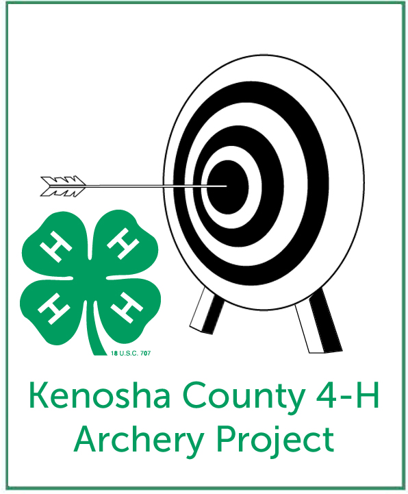 Logo for the Archery Project -- Target, arrow and 4-H logo
